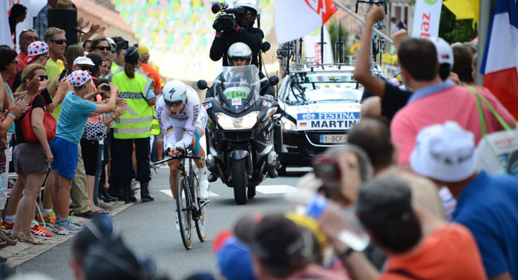 Tony Martin with Kinesio Tape Stage 20 Tour de France